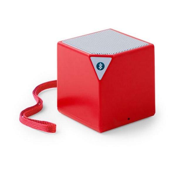 Trådløs Bluetooth Højtaler Med Jackstik – Firkantet – Rød