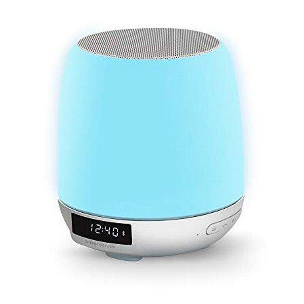 Trådløs Bluetooth Højtaler Og Fm Clockradio – Blå