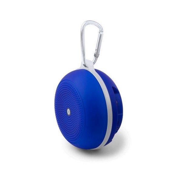 Trådløs Bluetooth Højtaler Og Fm Radio Med Karabinhage Og Håndfri – Blå