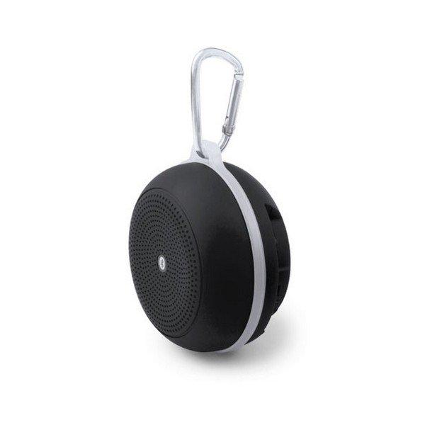Trådløs Bluetooth Højtaler Og Fm Radio Med Karabinhage Og Håndfri – Sort