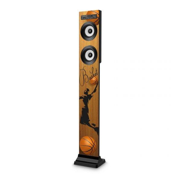 Trådløs Højtaler Lydtårn Med Bluetooth Og Fm Radio – 20w – Basket