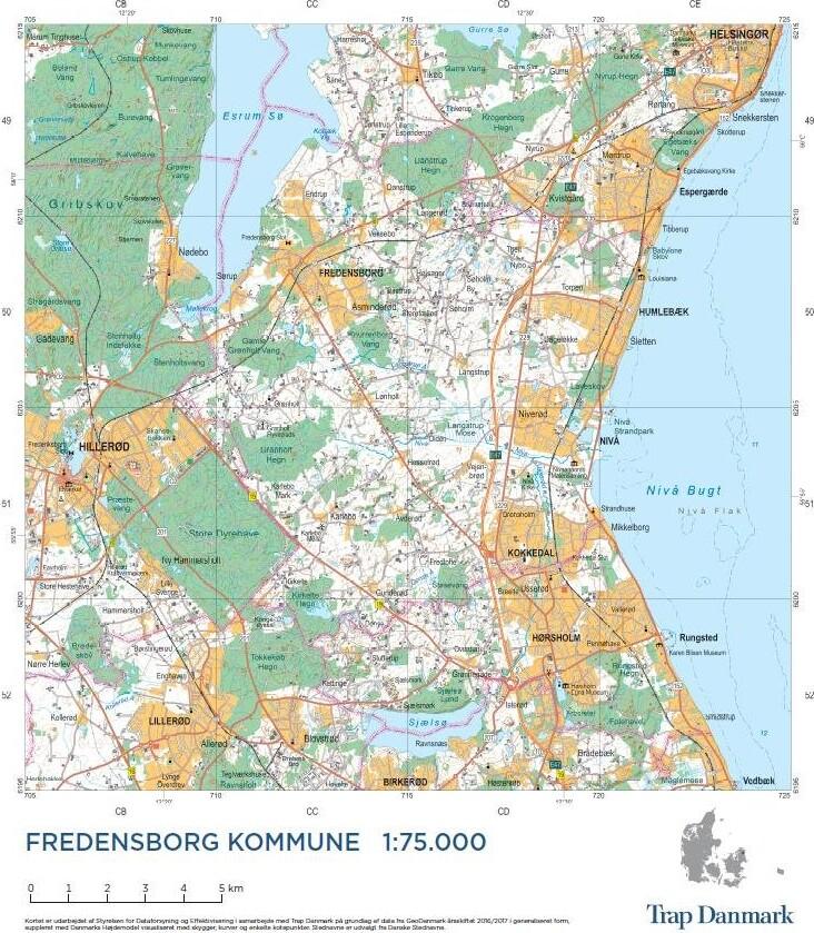 Image of   Trap Danmark: Falset Over Fredensborg Kommune - Trap Danmark - Bog