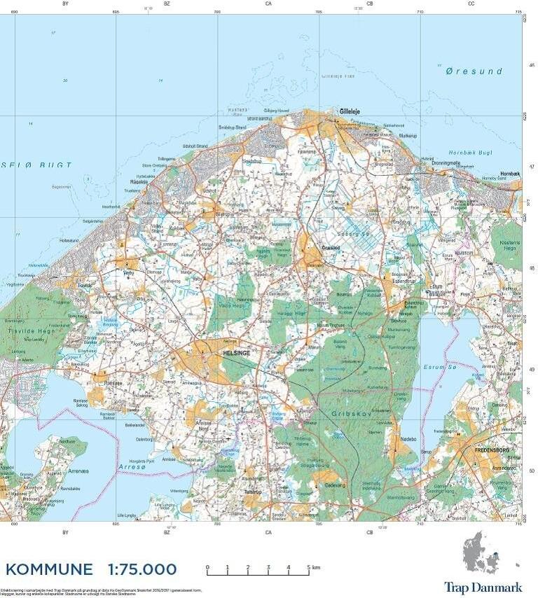 Image of   Trap Danmark: Falset Over Gribskov Kommune - Trap Danmark - Bog