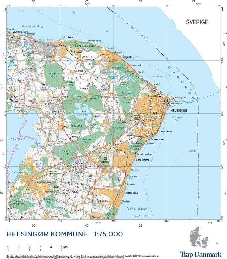 Image of   Trap Danmark: Over Helsingør Kommune - Trap Danmark - Bog
