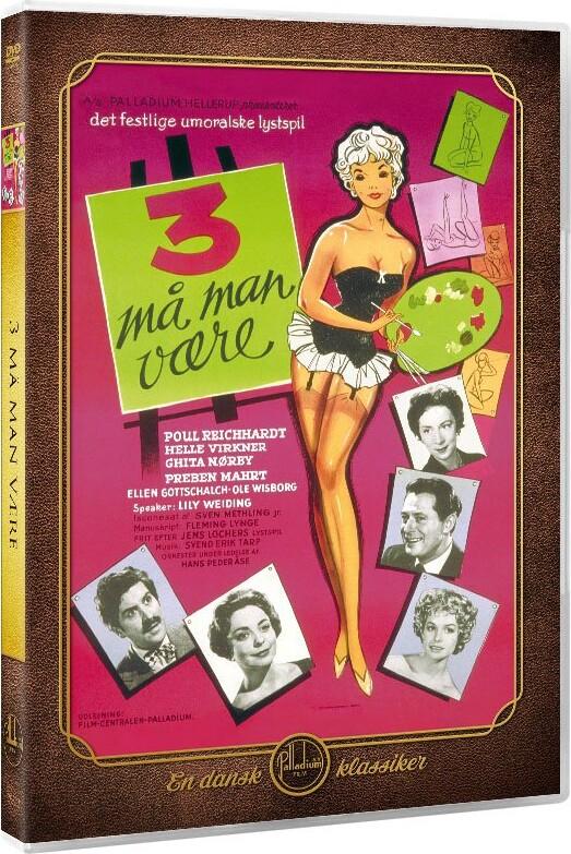 Image of   3 Må Man Være / Tre Må Man Være - DVD - Film