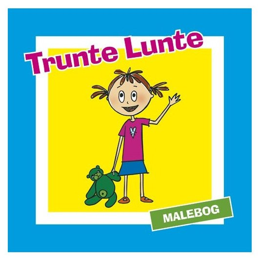 malebog, trunte lunte, tegninger, illustrationer, Trunte Lunte
