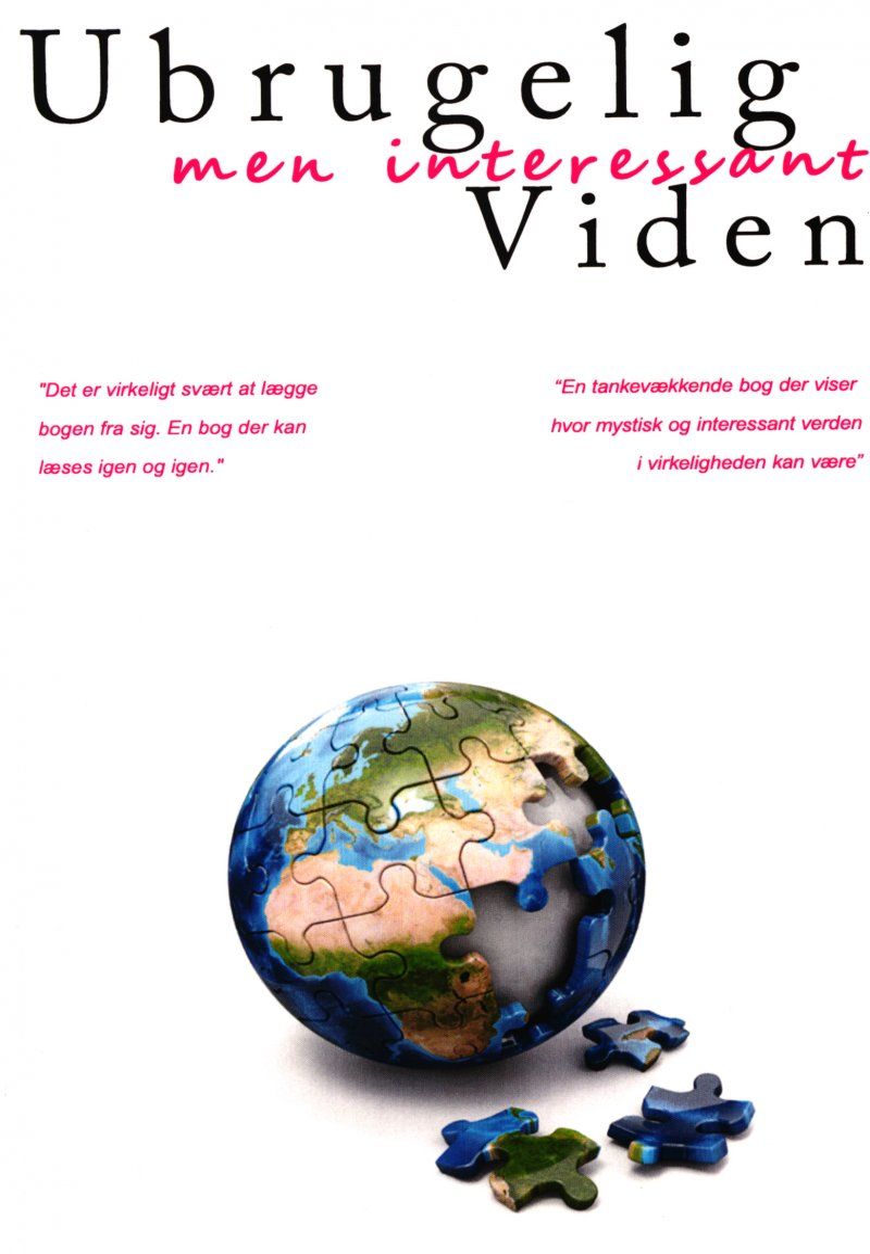 Image of   Ubrugelig, Men Interessant Viden - René Lauritsen - Bog