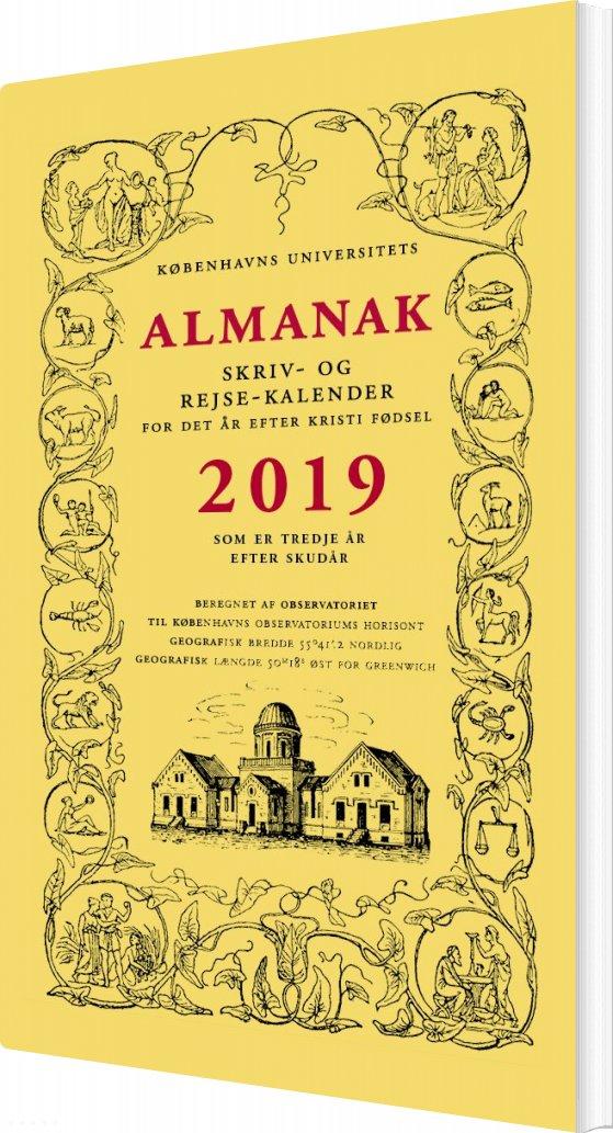 Image of   Almanak 2019 - Skriv- Og Rejsekalender - Københavns Universitet - Bog