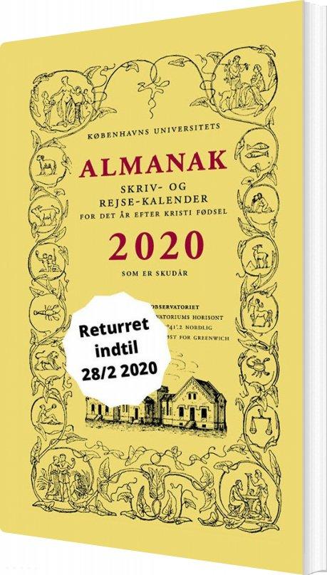 Image of   Universitetets Almanak Skriv- Og Rejsekalender 2020 - Københavns Universitet - Bog