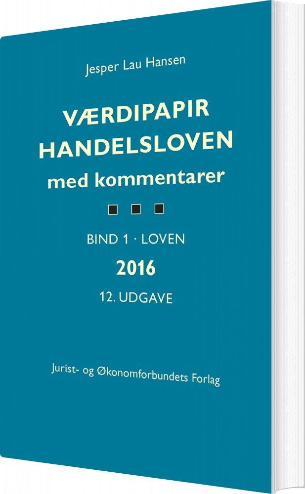 Værdipapirhandelsloven - Jesper Lau Hansen - Bog