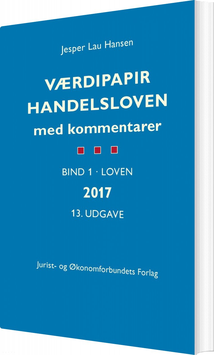 Image of   Værdipapirhandelsloven - Jesper Lau Hansen - Bog