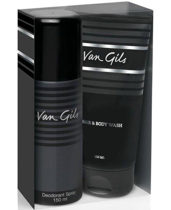 Image of   Gaveæske: Van Gils Strictly For Men Deospray 150 Ml & Showergel 150 Ml