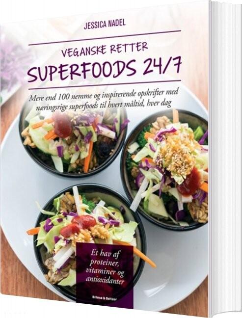Image of   Veganske Retter - Superfoods 24/7 - Jessica Nadel - Bog