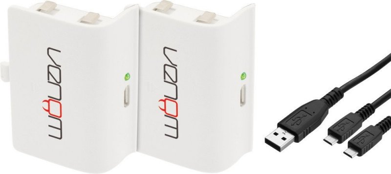 Image of   Venom Twin Rechargeable Battery Packs For Xbox One - White