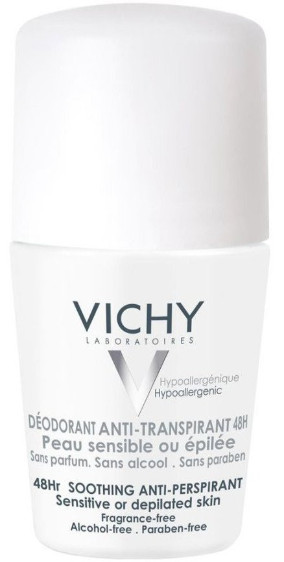 Image of   Vichy Antiperspirant Roll On Deodorant Sensitive 48 Timer - 50 Ml