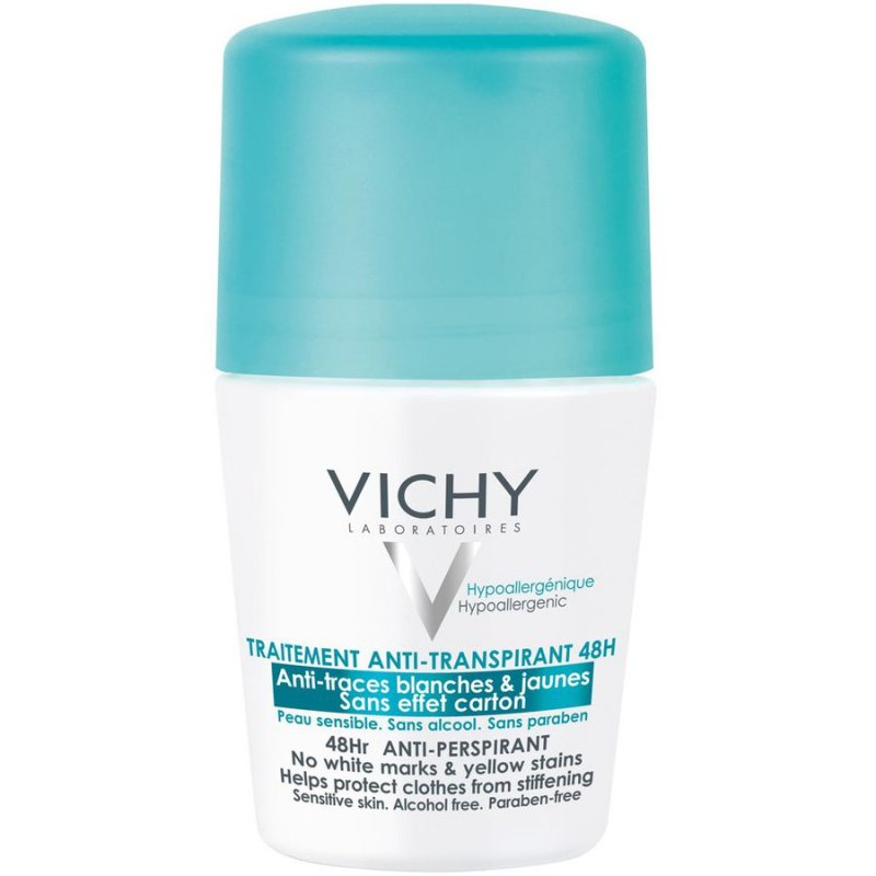 Image of   Vichy Roll On Deodorant 48 Timer - 50 Ml