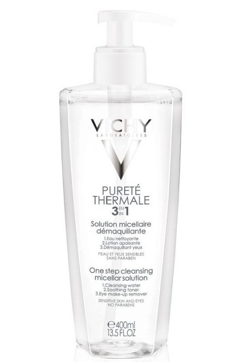 Image of   Vichy Purete Thermale 3 In 1 Calming Cleansing Micellar Solution - 400 Ml