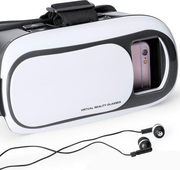Image of   Virtual Reality Vr Briller Til Smartphone - Inkl. Mikrofiberklud - Hvid