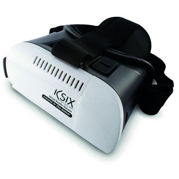 """Image of   Virtual Reality Vr Briller Til Smartphone - Str. 4""""-5"""" - Foldbar - Sort Hvid"""