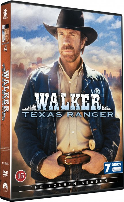 Walker Texas Ranger - Sæson 4 - DVD - Tv-serie