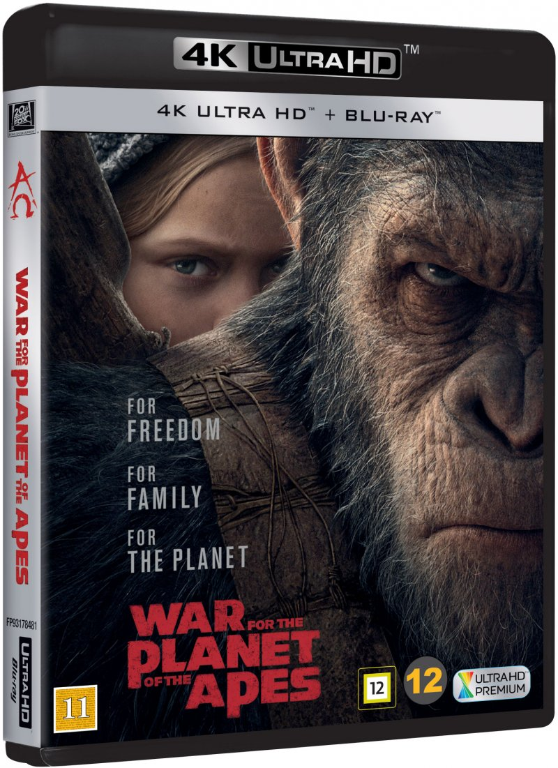 Image of   War For The Planet Of The Apes / Abernes Planet: Opgøret - 4K Blu-Ray