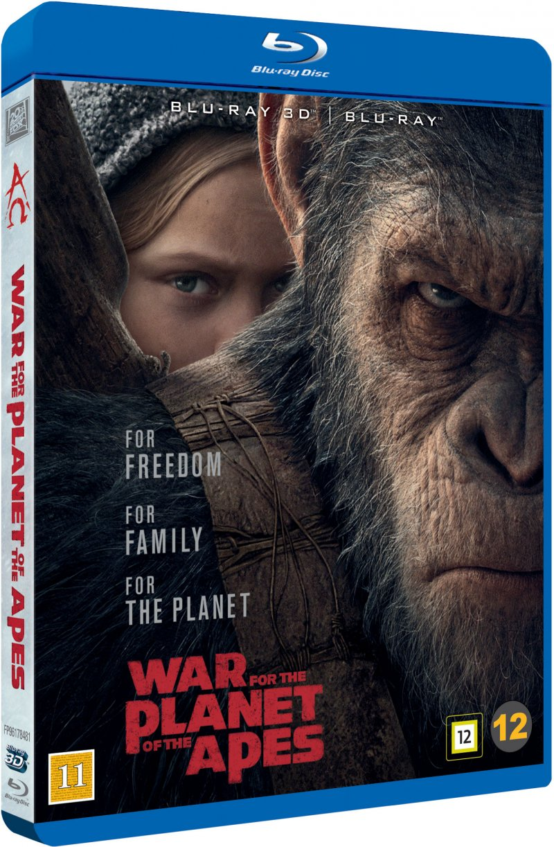 Image of   War For The Planet Of The Apes / Abernes Planet: Opgøret - 3D Blu-Ray
