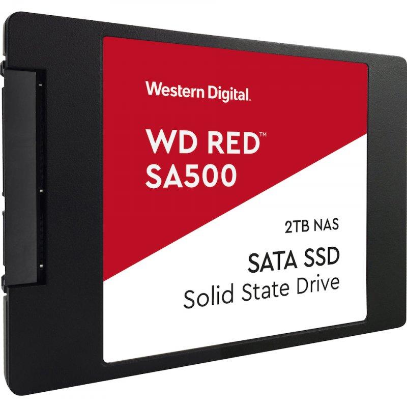 """Image of   Western Digital Wd - Red Ssd Harddisk 2.5"""" - 2tb Nas - Sort Rød"""
