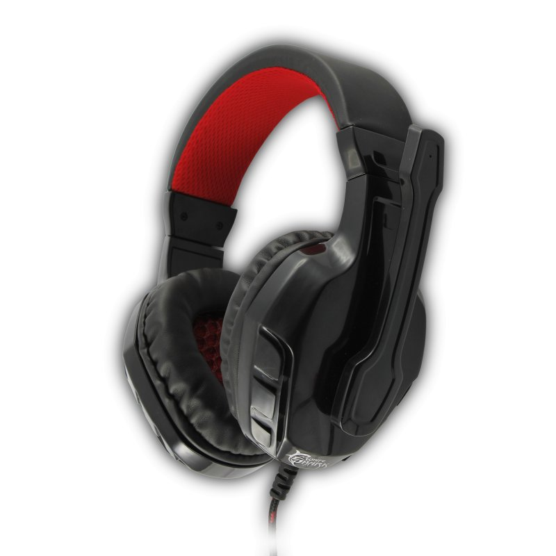 Image of   White Shark Panther Gamer Headset I Sort/rød