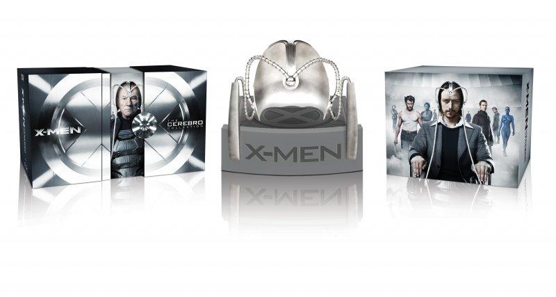 X-men 1-7 - Cerebro Samling + Hjelm - Blu-Ray