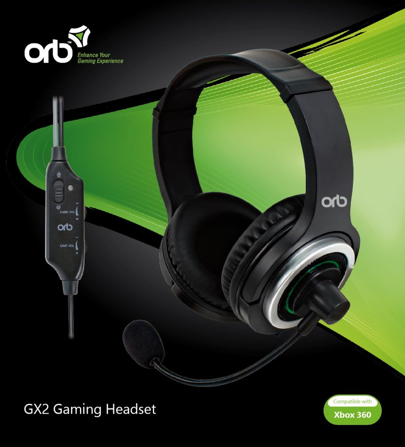 Orb Gamer / Gaming Headset Til Xbox 360 - Gx2
