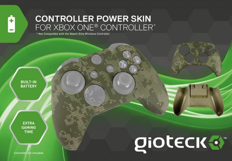 Gioteck Controller Powerskin Til Xbox One - Camouflage
