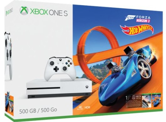Xbox One S 500 Gb Inkl. Forza Horizon 3 Hot Wheels