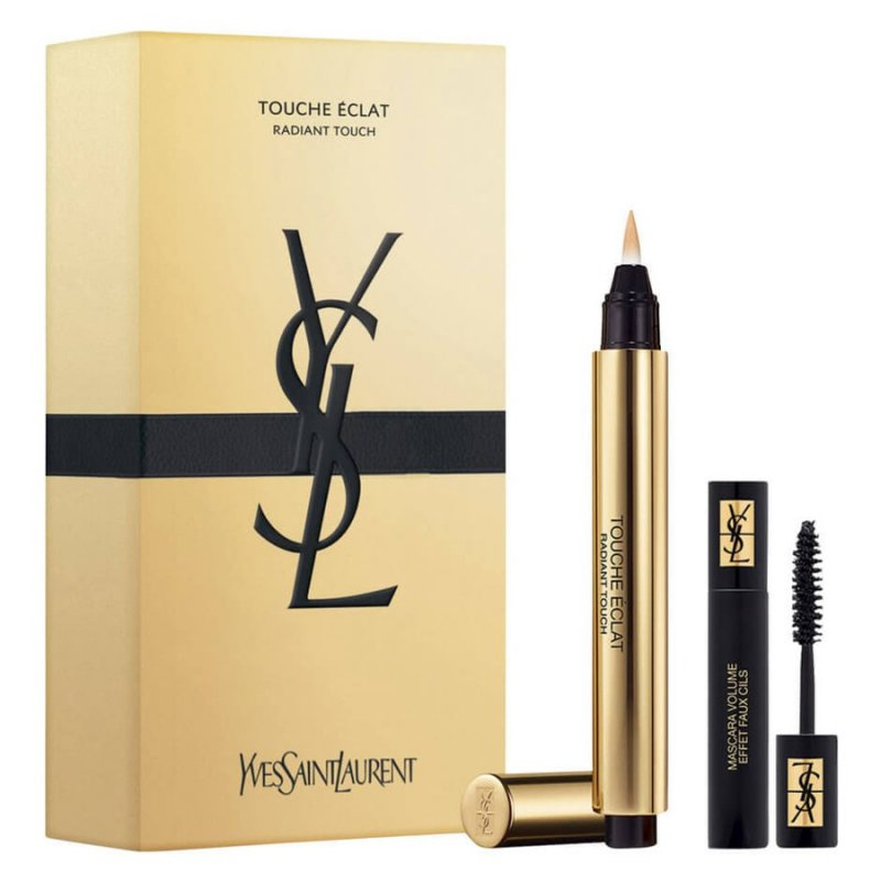 Image of   Yves Saint Laurent Makeup Sæt - Touche Eclat No. 2 + Mini Mascara Volume Effet Faux-cils