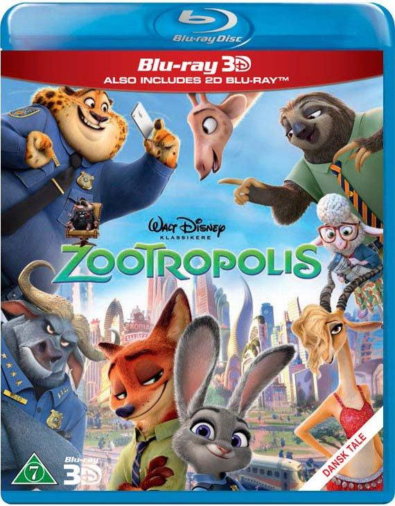 Image of   Zootropolis - Disney (3d + 2d Blu-ray) -