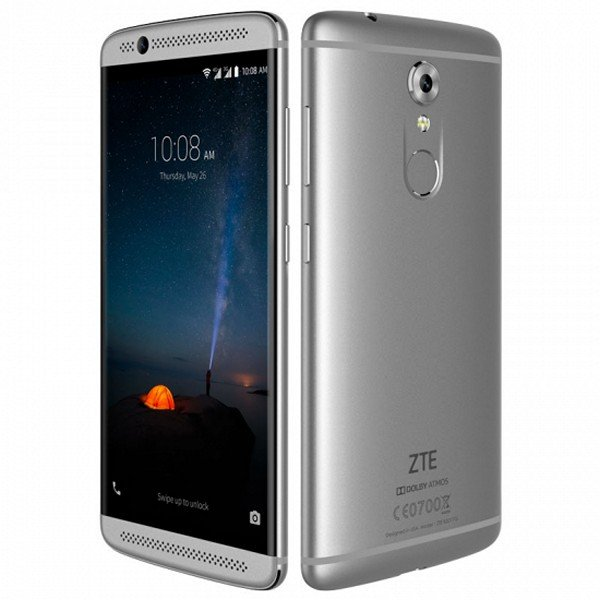 "Image of   Zte Axon 7 Mini Mobiltelefon - 5,2"" Display - 16mp Kamera - 32gb - Sølv"