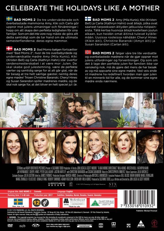 A Bad Moms Christmas Dvd Cover.Bad Moms 2 A Bad Moms Christmas Dvd Film