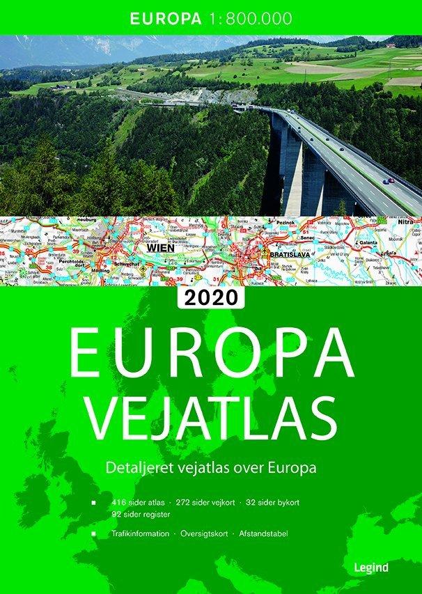 Europa Vejatlas 2020 Paperback Bog Gucca Dk