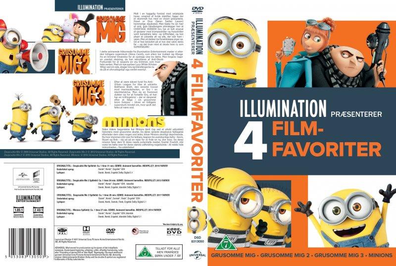 Dejlig Grusomme Mig 1 // Grusomme Mig 2 // Grusomme Mig 3 // Minions DVD HF-16