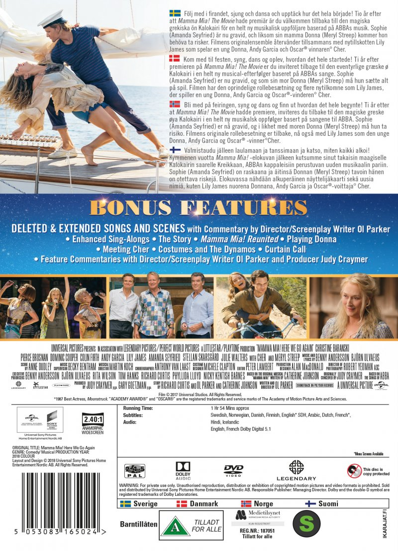 Mamma Mia 2 Here We Go Again Dvd Film Køb Billigt Her