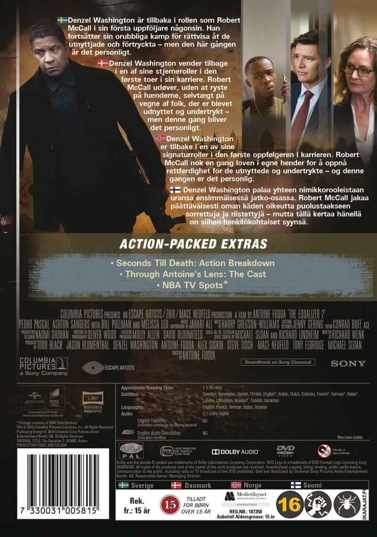 The Equalizer 2 Dvd Film
