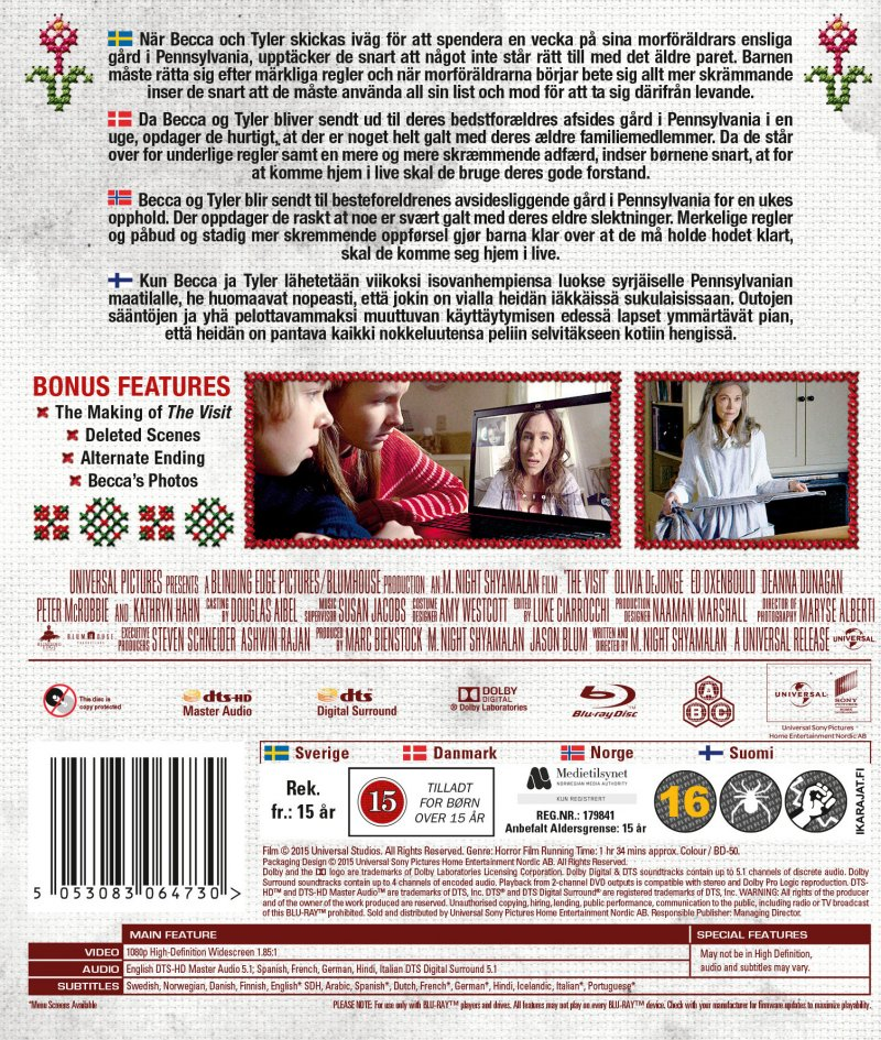 The Visit Blu-Ray Film